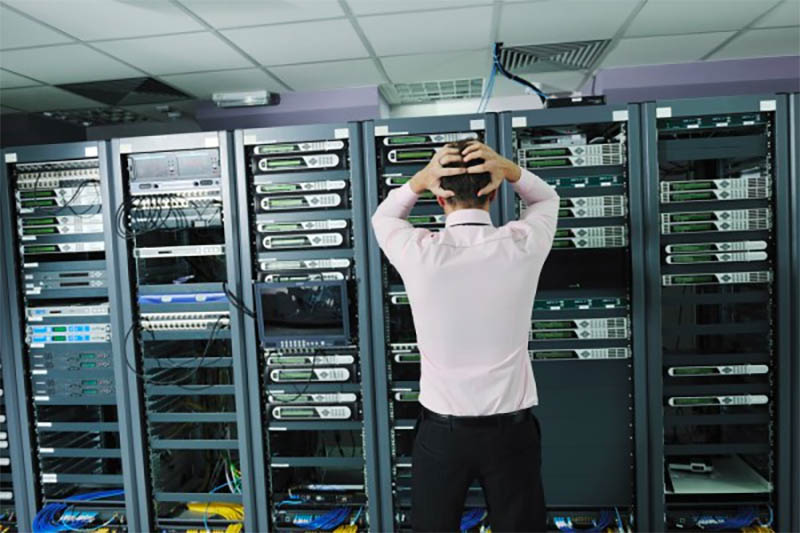server guy looking at server problems
