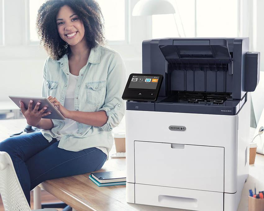 Xerox connect key printing